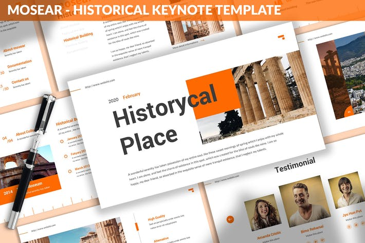 Thumbnail for Mosear - Historical Keynote Template