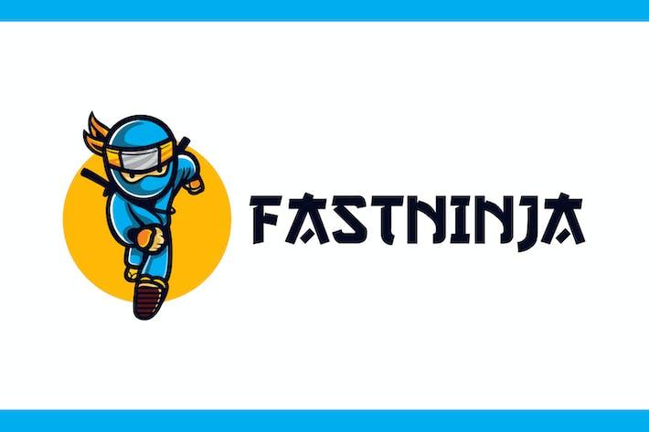 Thumbnail for Cartoon Running Ninja Mascot Logo