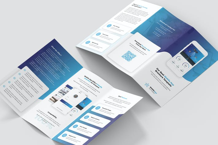 Thumbnail for Brochure – Mobile App Tri-Fold