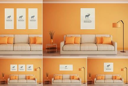 Beautiful Poster Frame Mock-Ups