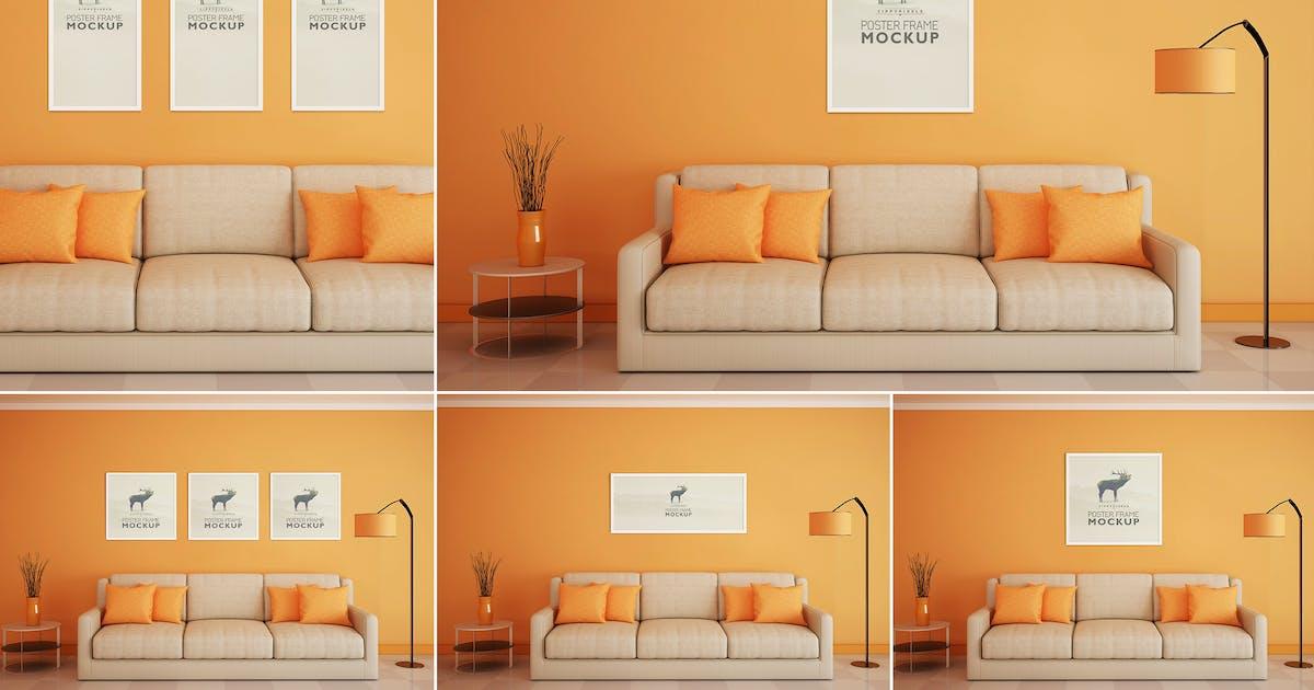 Download Beautiful Poster Frame Mock-Ups by zippypixels