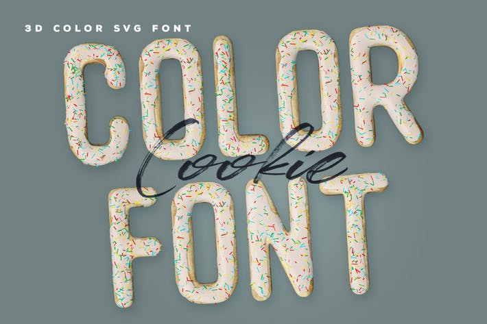 Cover Image For Cookie Color Font