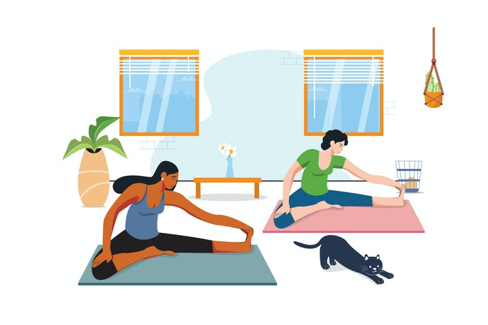 Thumbnail for Yoga  Activity Illustration