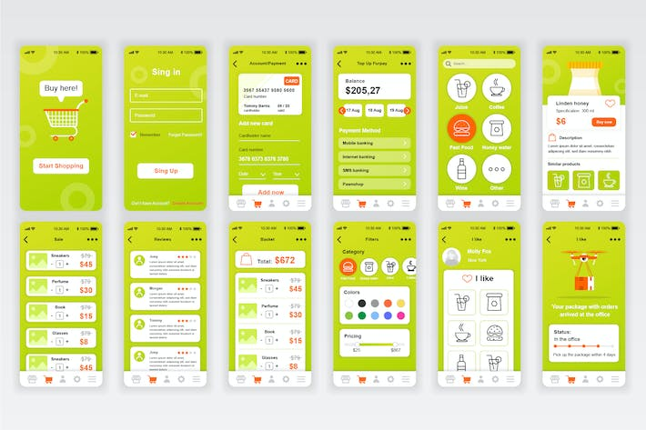 Thumbnail for Commerce Mobile Приложение UX и UI Kit