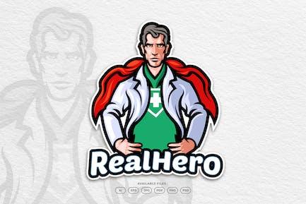 Medical Hero and Health Care Mascot Logo
