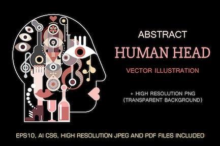 Illustration Vecteur Abstract fine art Human Head