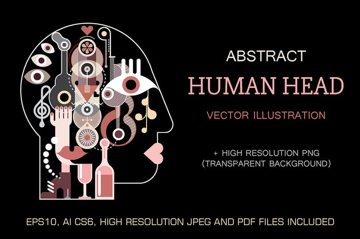 Thumbnail for Abstract fine art Human Head vector illustration
