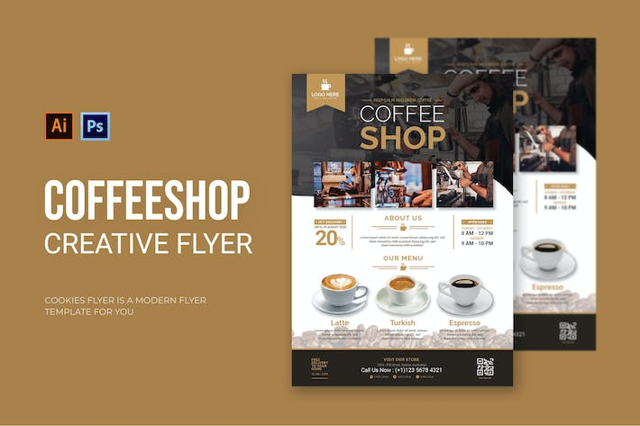 Thumbnail for Coffee Shop - Flyer