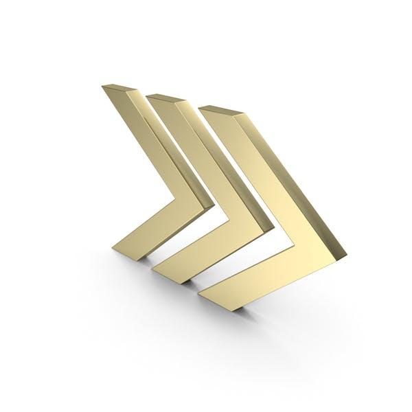 Gold Arrow Symbol