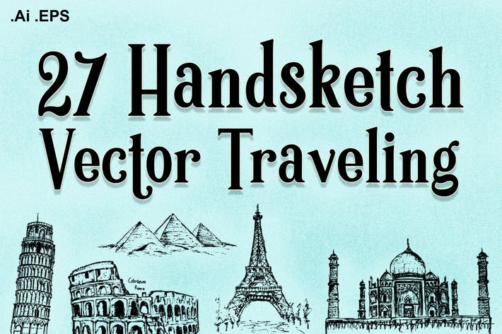 Thumbnail for 27 Handskecth vector traveling