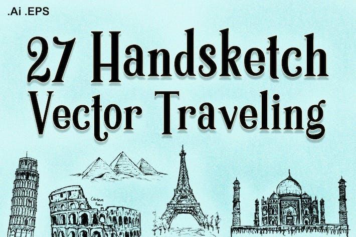 Thumbnail for 27 Handskecth Vektor Reisen