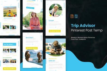Trip Advisor   Pinterest Post Template