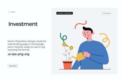 Dooder - Investment Illustration