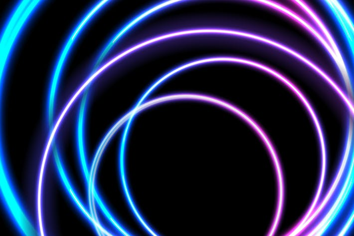Thumbnail for Colorful neon glowing circles abstract background