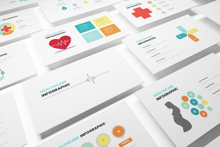 Инфографический Шаблон Powerpoint для здравоохранения