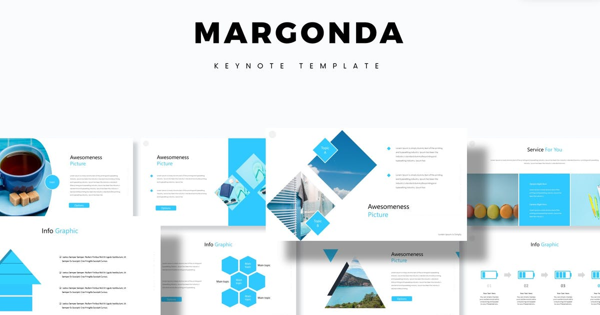 Download Margonda - Keynote Template by aqrstudio