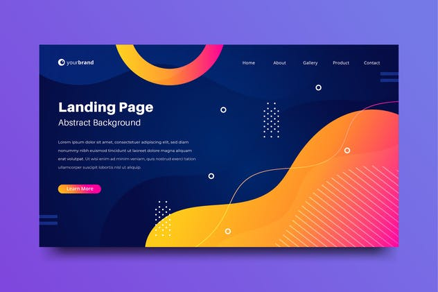 Background Abstract Landing Page