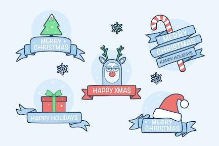 Verspielte Weihnachts-Abzeichen