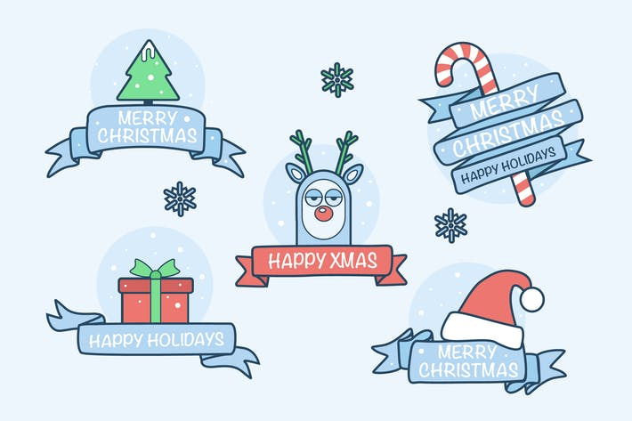 Thumbnail for Christmas Playful Badges