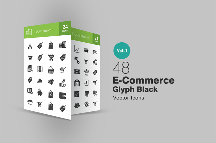 Thumbnail for 48 Ecommerce Glyph Icons