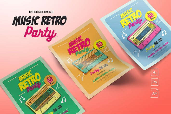 Cover Image For Music Retro Party