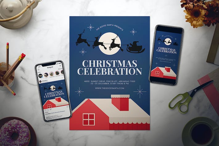 Cover Image For Christmas Flyer Set