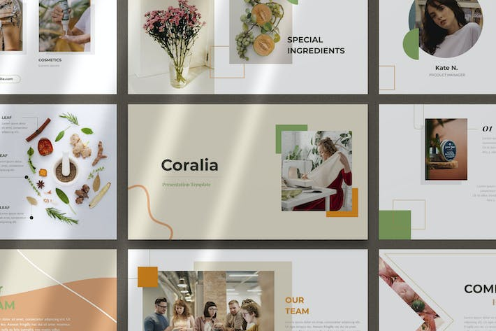Thumbnail for Coralia - Elegant Google Slides Templates