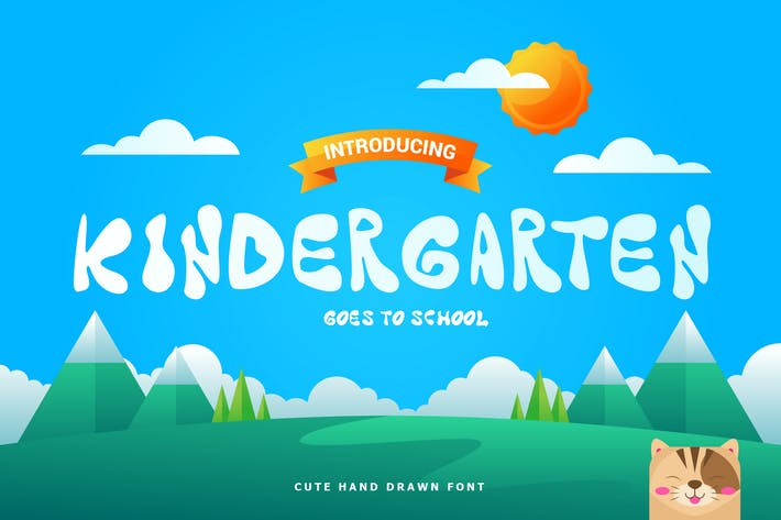 Thumbnail for Kindergarten - Fun Children Typeface
