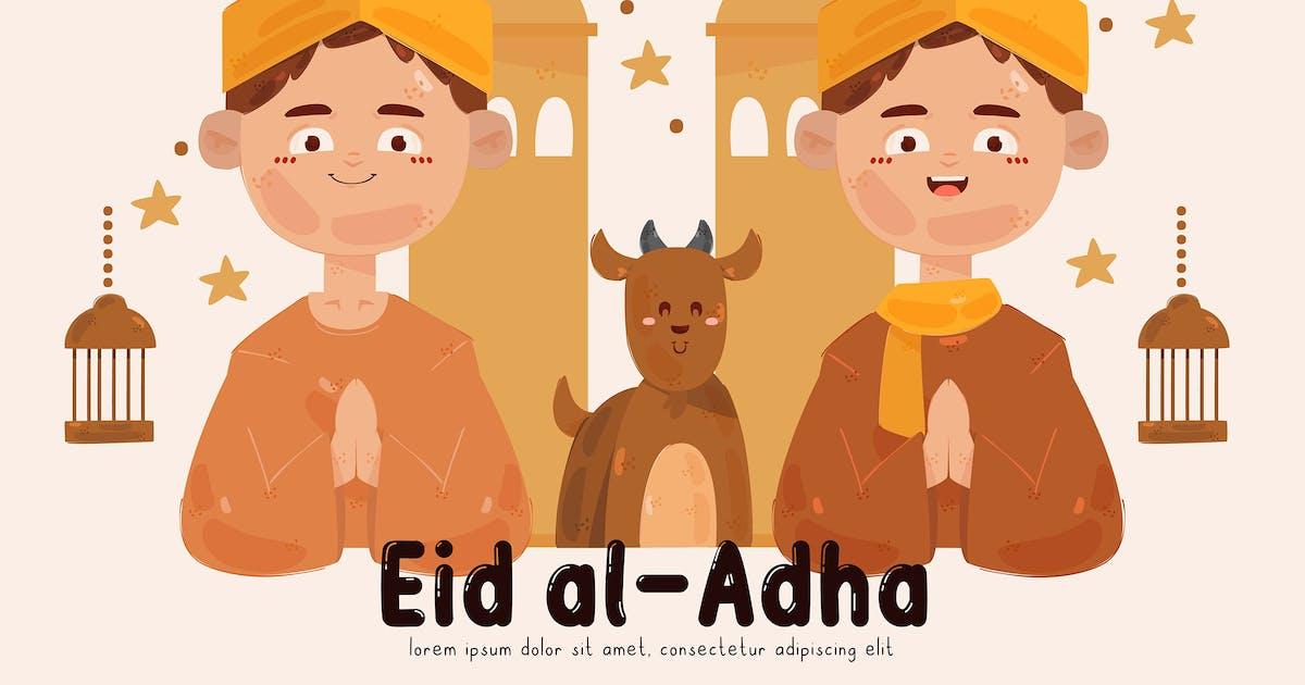Download People Celebrating Eid Al-Adha Illustration (2) by april_arts