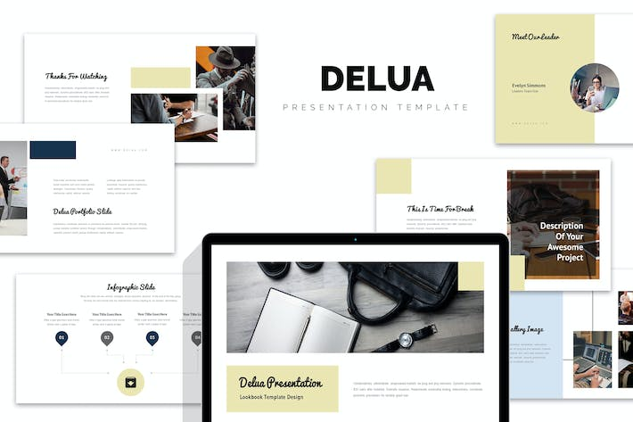 Thumbnail for Delua : Tech Startup Google Slides