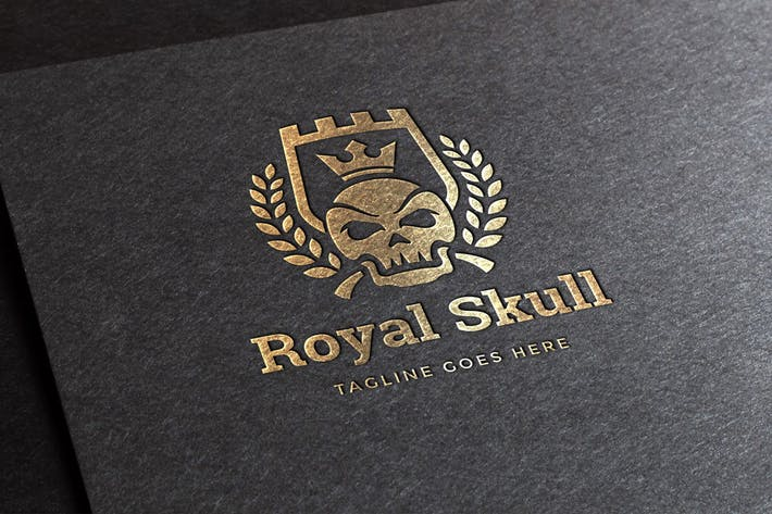 Thumbnail for Royal Skull Logo Template