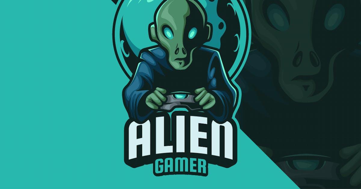 Download Alien Gamer Mascot Logo by erix_ultrasonic