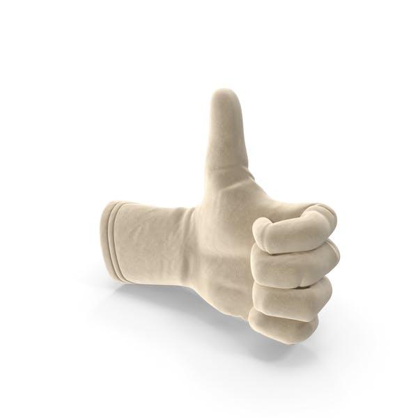 Замшевые перчатки большой палец вверх
