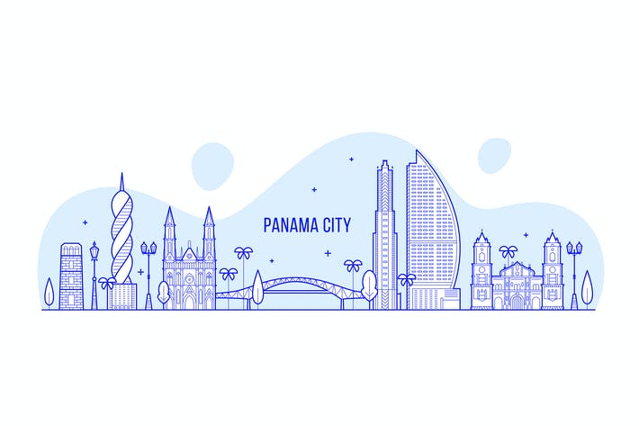 Thumbnail for Panama City skyline, Republic Panama