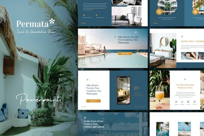Thumbnail for Permata - Trip & Hospitality Powerpoint Template