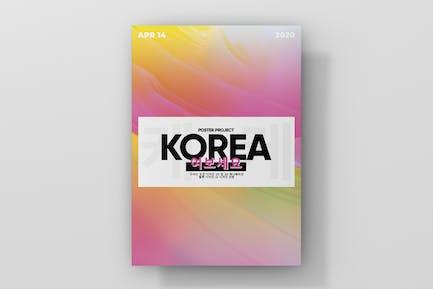Korea Gradient Poster