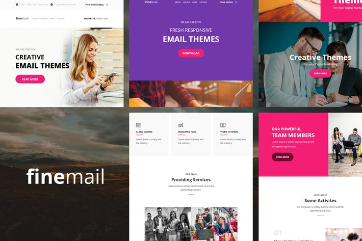 Thumbnail for finemail - 60+ Modules E-mail Templates