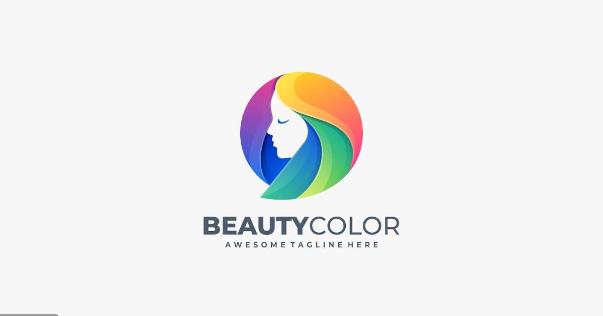 Download Beauty Girl Head Colorful Logo Template by ivan_artnivora