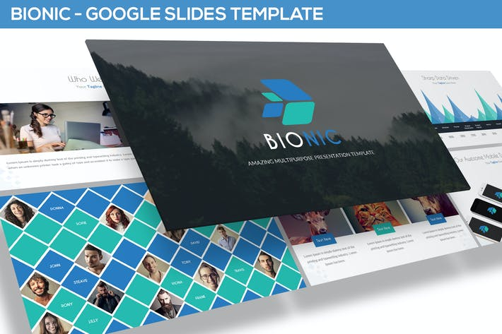 Thumbnail for Bionic - Amazing Google Slides Template