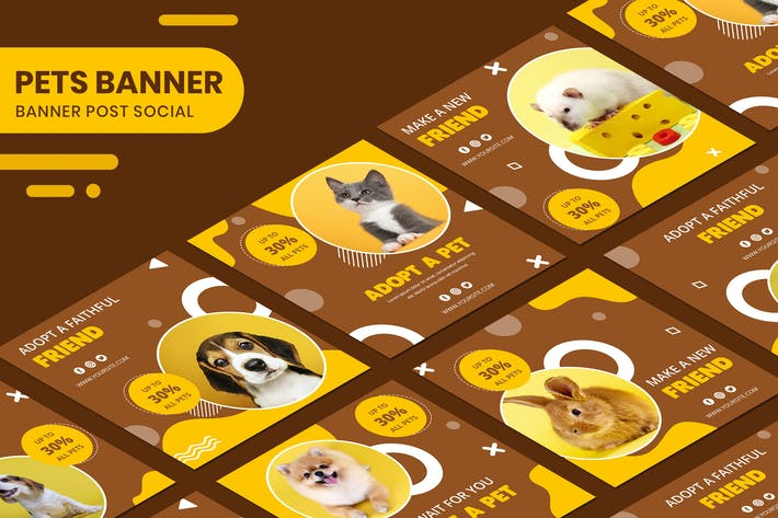 Thumbnail for Adopter A Pet Instagram Post Collection bannière