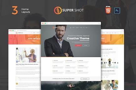 SuperShot - Onepage Agency Landing Page