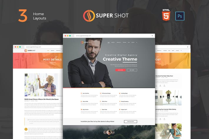 Thumbnail for SuperShot - Onepage Agency Landing Page