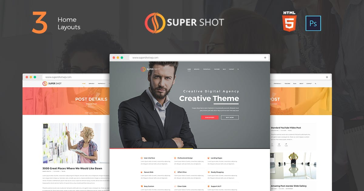 Download SuperShot - Onepage Agency Landing Page by murren20