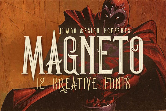 Thumbnail for Magneto - Vintage Style Font