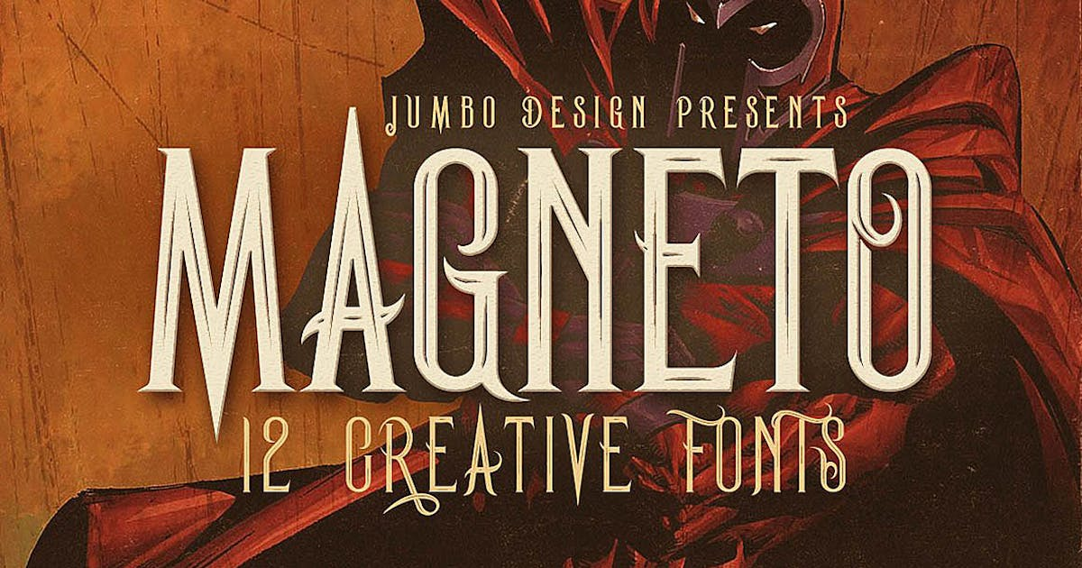 Download Magneto - Vintage Style Font by cruzine
