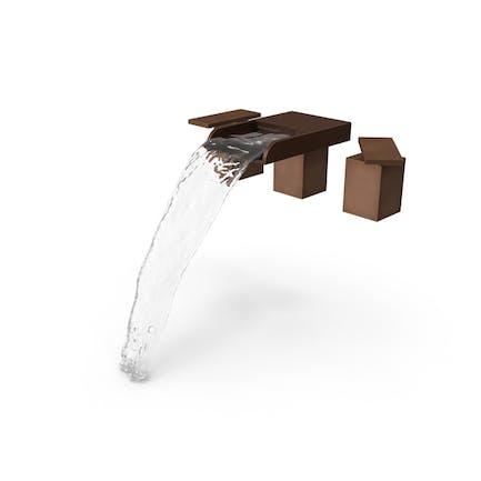 Moderno accesorio para fregadero de baño.