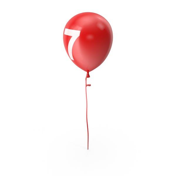 Number 7 Balloon
