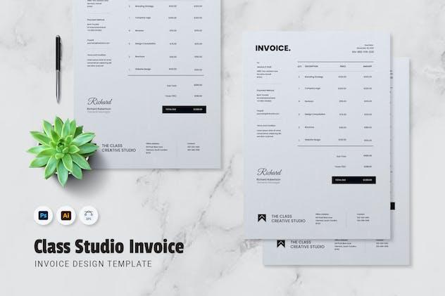 The Class Studio Invoice