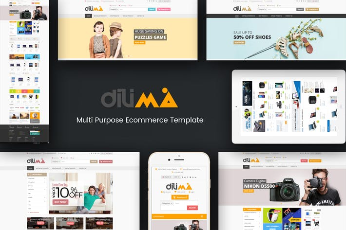 Cover Image For Dilima - Mega Store Responsive OpenCart Theme