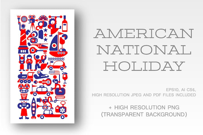 Thumbnail for American National Holiday vector illustration
